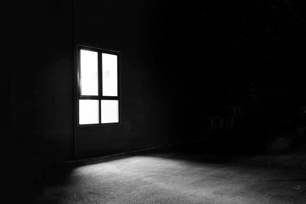Dark room recieving natural light