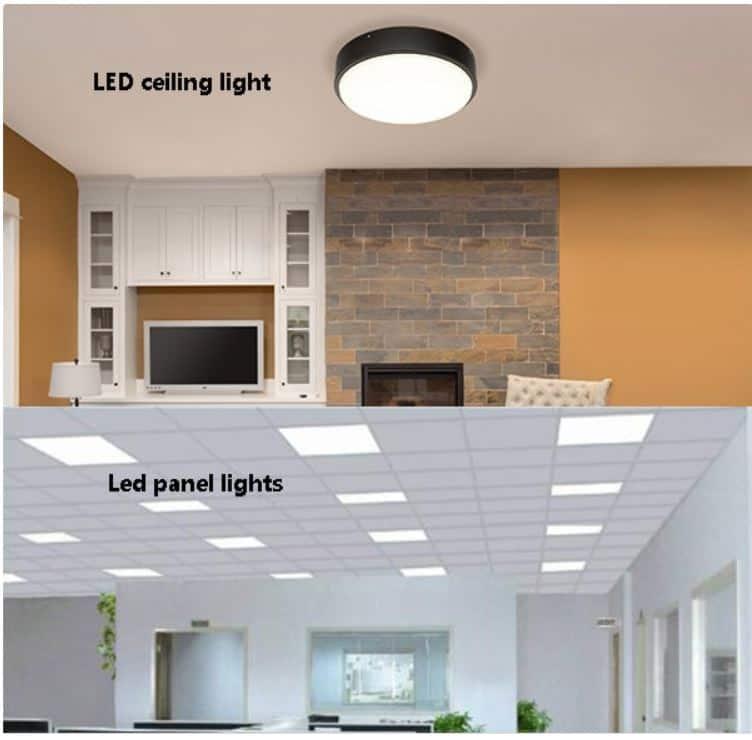 LED ceiling light vs panel light