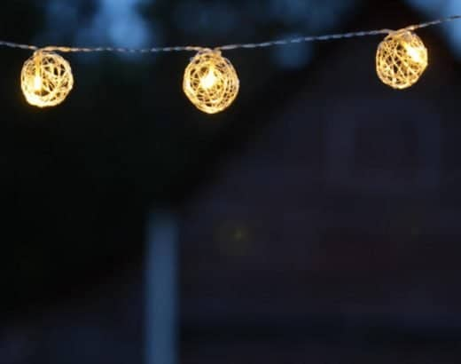 a camping string light