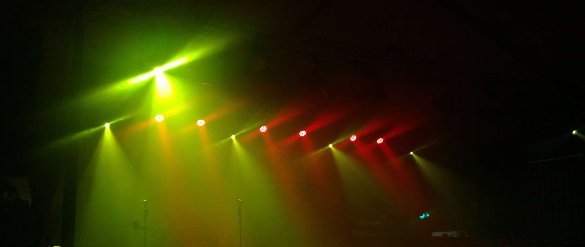 Fog machines being used in a stage