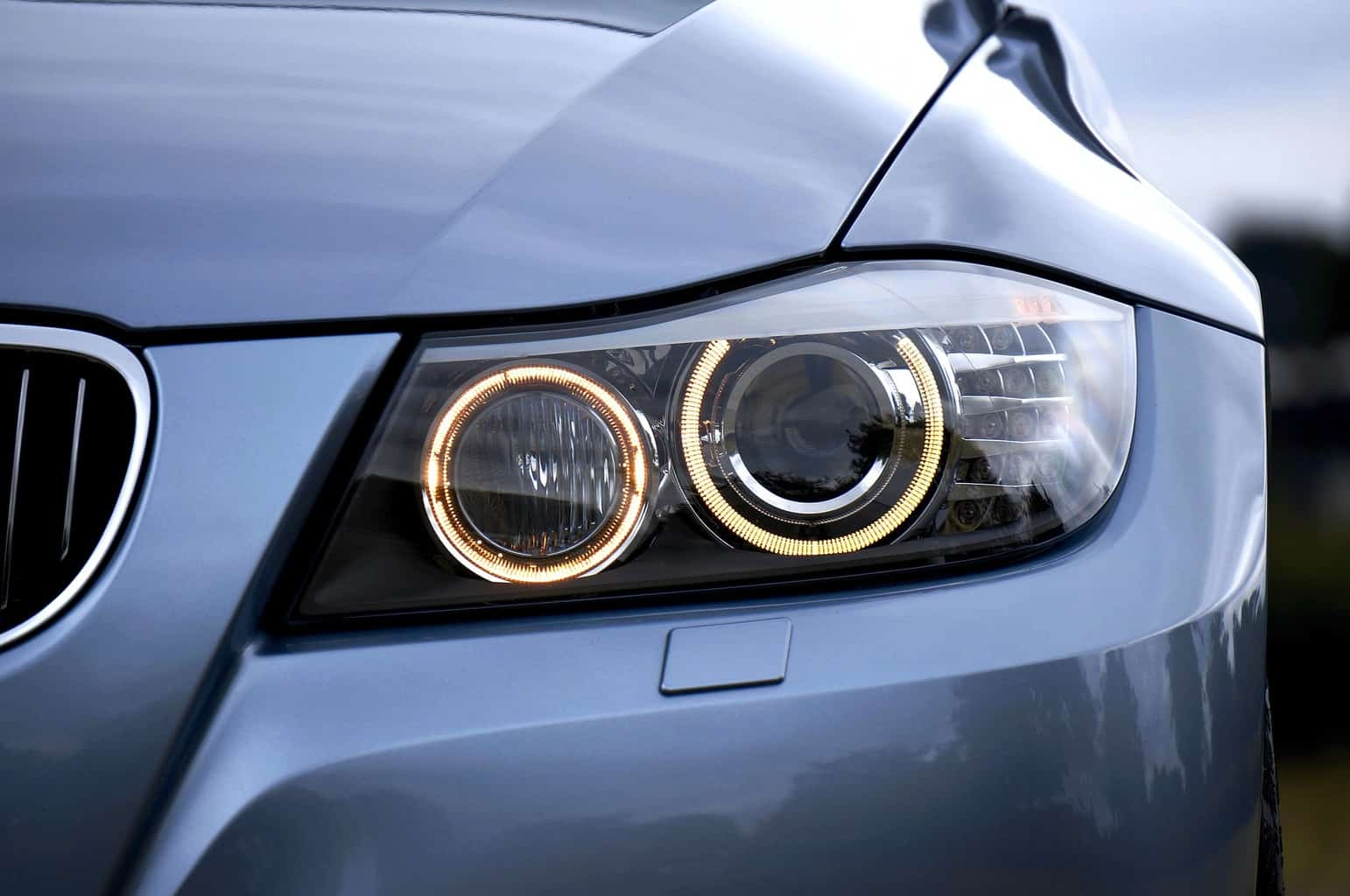 Close up of bulbs for projector headlights