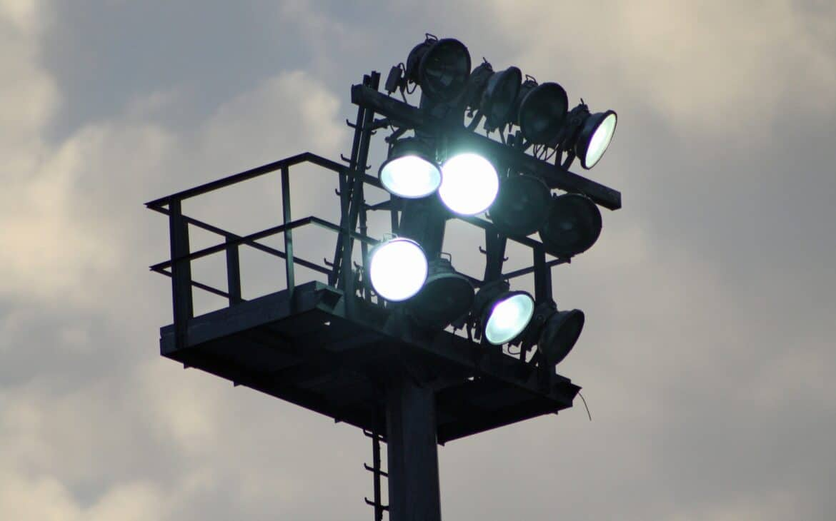 Stadium flood lights