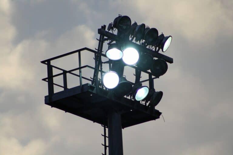 Stadium flood lights