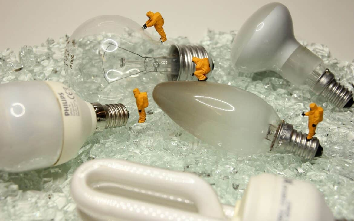 Disposing old LED light bulbs