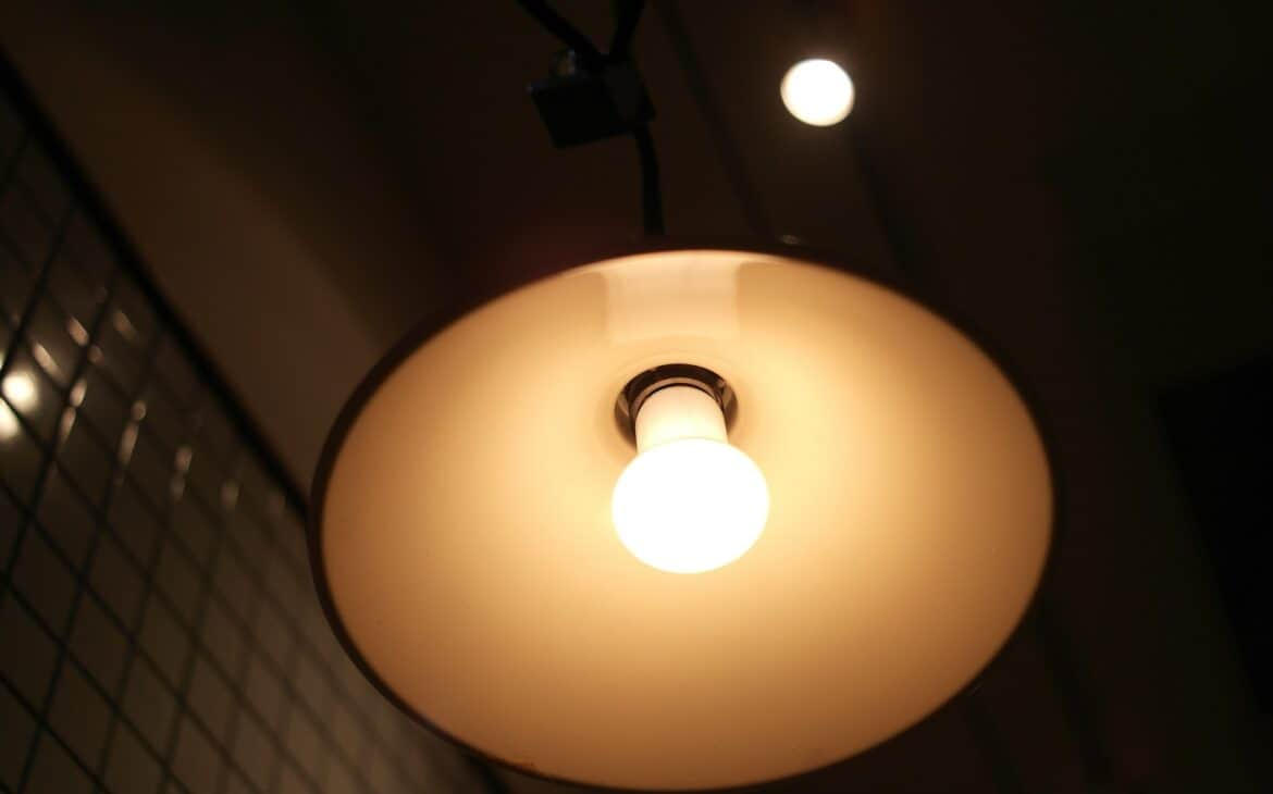 LED bulb in an incandescent fixture