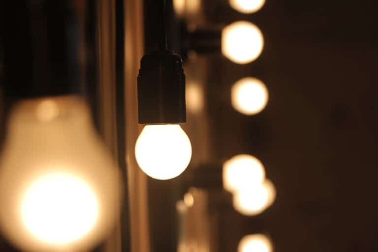 LED bulb brighter than the other lights in the room