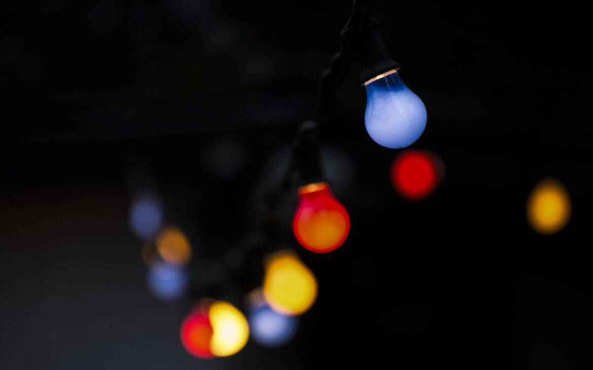 Light bulbs with different colors