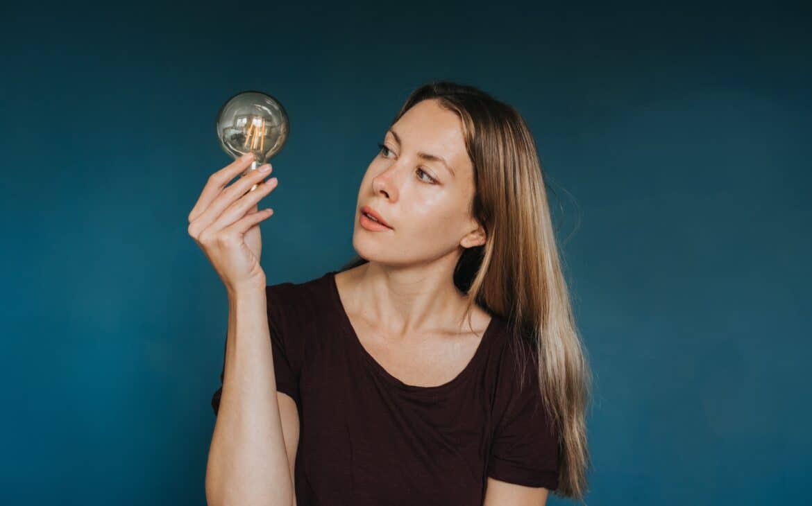 Woman wondering if she can dim LED lights