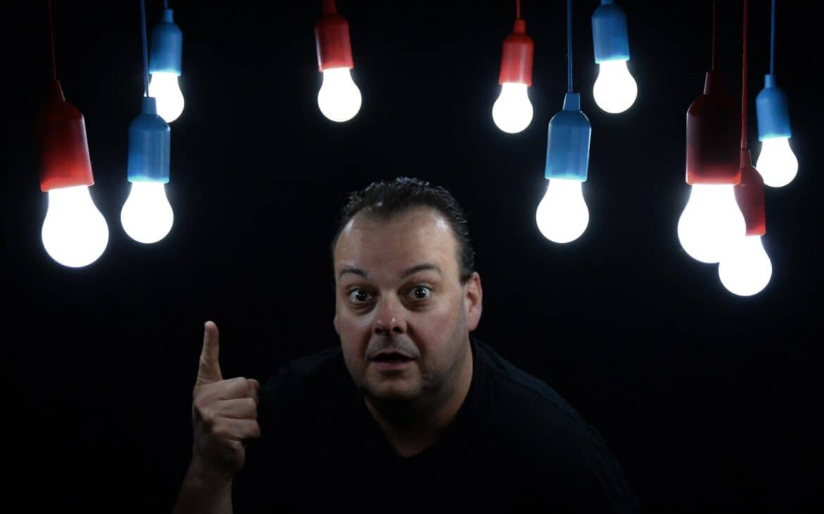 Man wondering if LED lights use less power