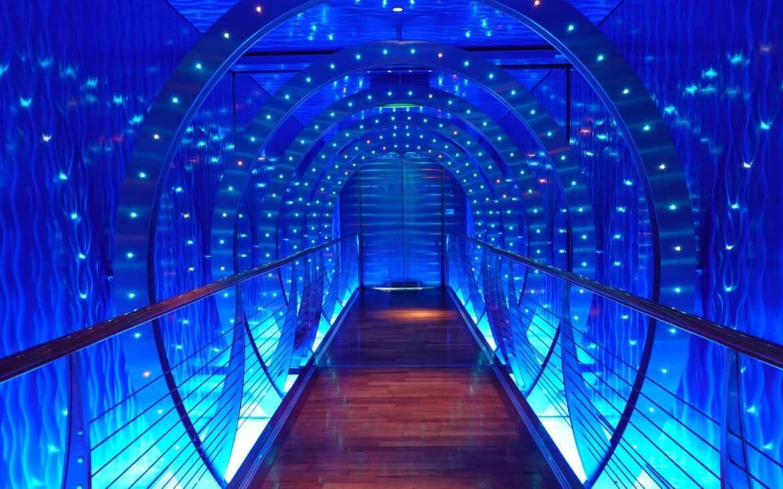 Futuristic tunnel shaped walkway