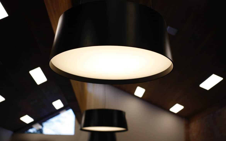 Black colored lighting fixture