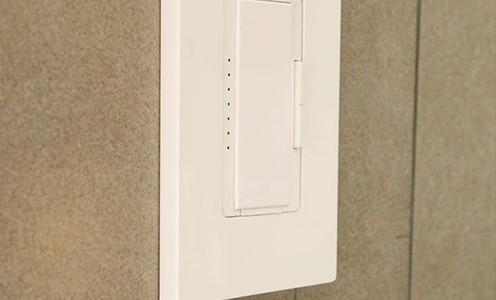 Z wave light switch on a wall