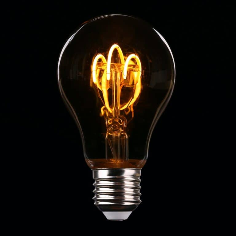 A standing LED Bulb with yellow light
